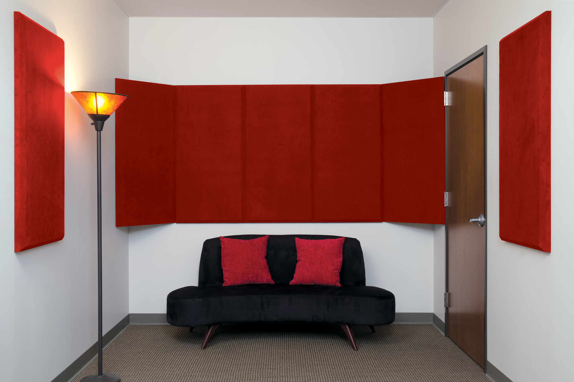 2'x4' ProPanels in SonoSuede Red Fabric
